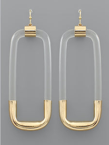 Acrylic Rectangle Earrings