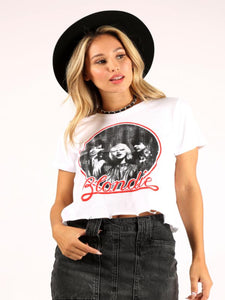 Blondie Distressed Cropped Tee