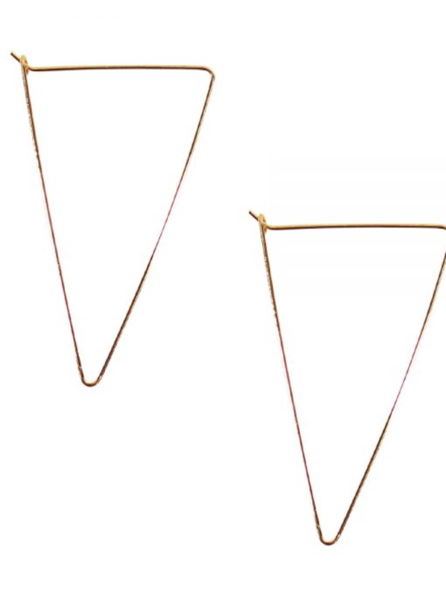 Dainty Triangle Hoop Earrings-Gold - Vintage Cotton Boutique