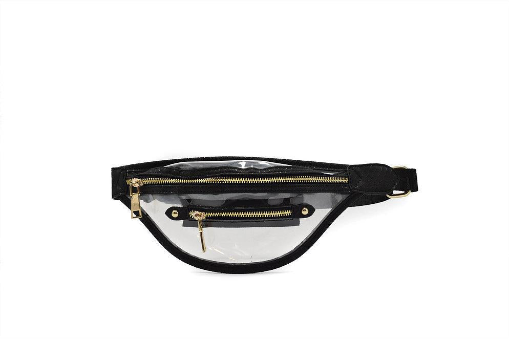 Clear Black Fanny Pack - Vintage Cotton Boutique