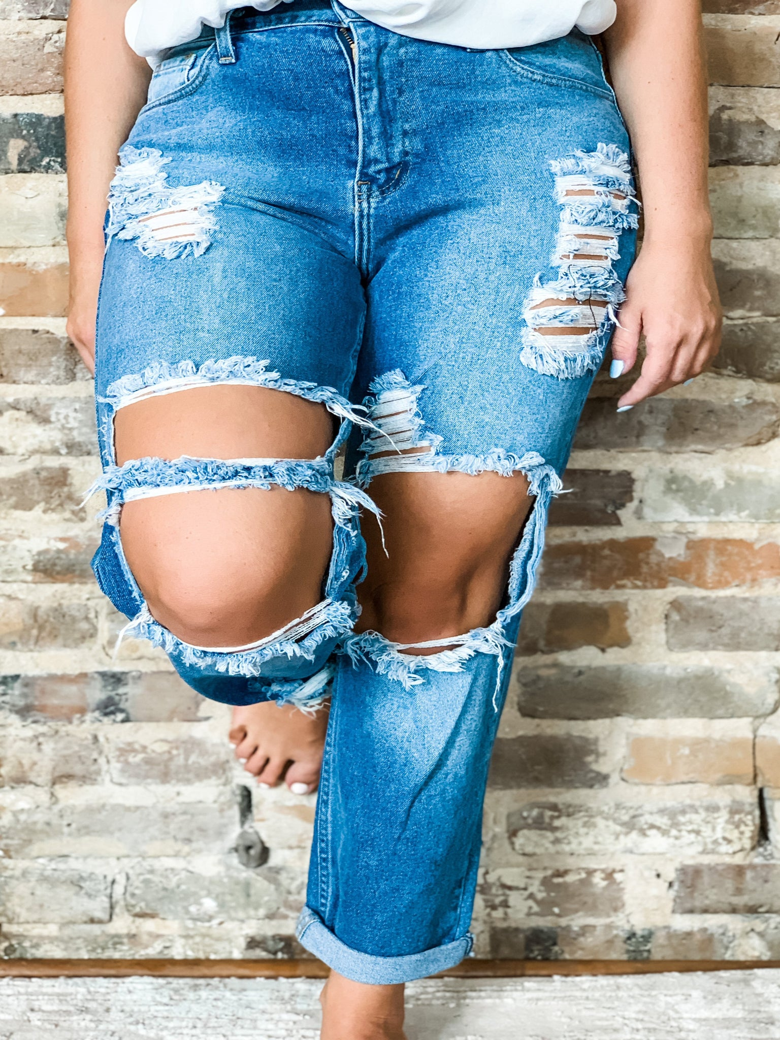 American Distressed Jean - Vintage Cotton Boutique
