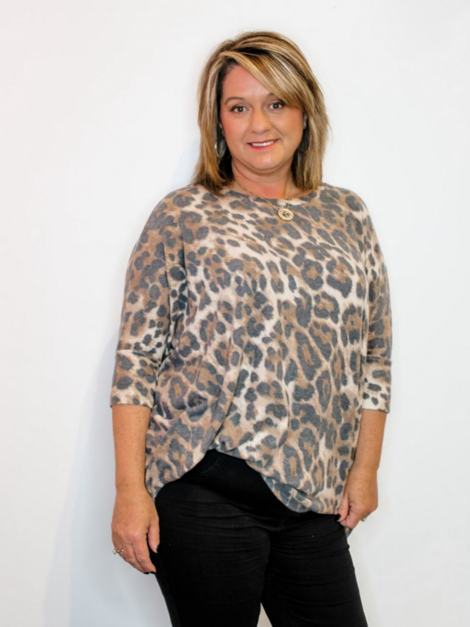 Brushed Leopard Top