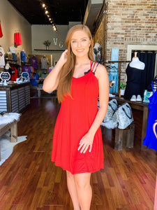 Candy Red Cami Dress - Vintage Cotton Boutique