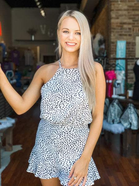 Dalmatian Print Romper - Vintage Cotton Boutique