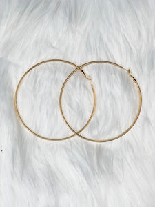 Gold Basic Hoops - Vintage Cotton Boutique