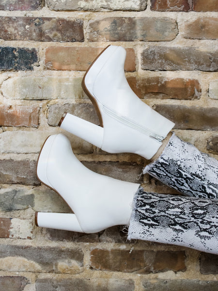 New Heights White Booties