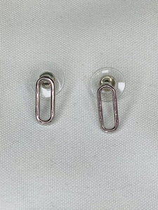 Oval Small Silver Earrings