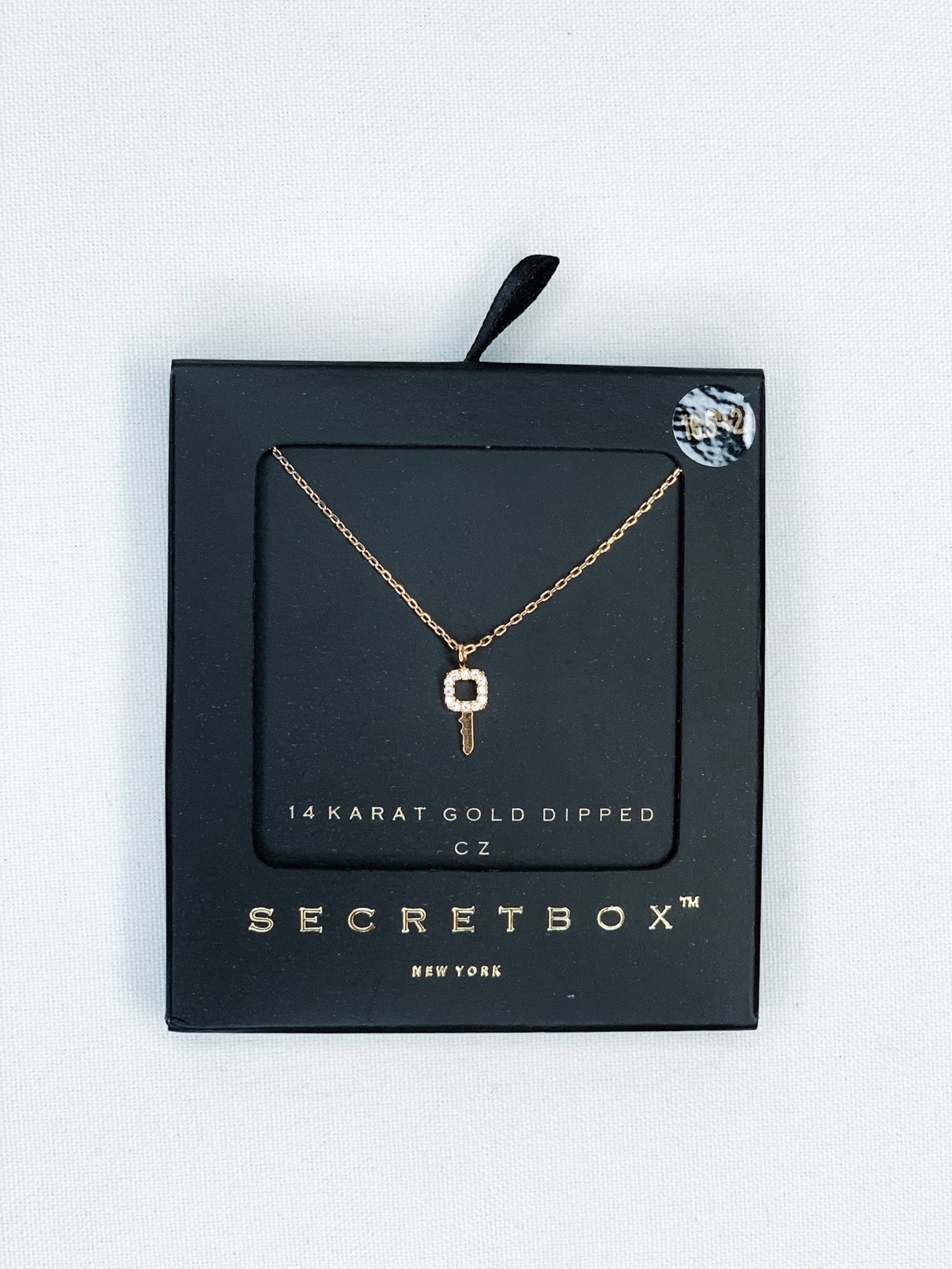 Secret Box Gold Key Necklace