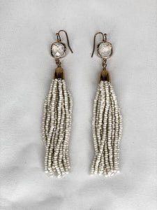 Rectangle & Tassel Earrings