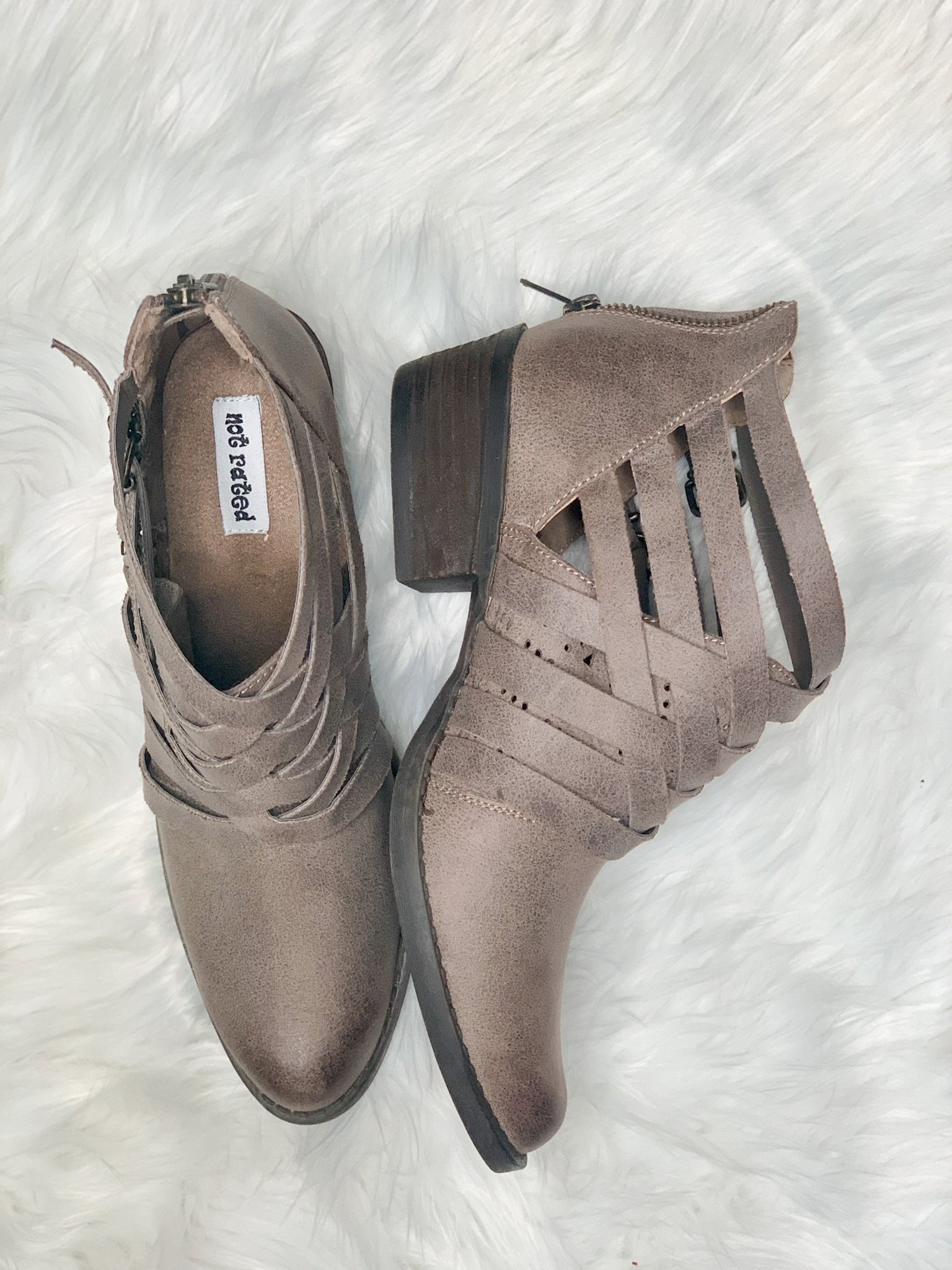 Gael Taupe Booties - Vintage Cotton Boutique