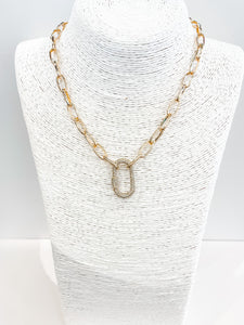Crystal Carabiner Necklace