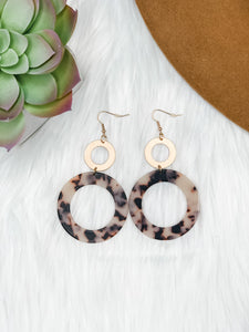 Leopard Circle Earrings - Vintage Cotton Boutique
