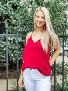 Radiant Red Cami - Vintage Cotton Boutique