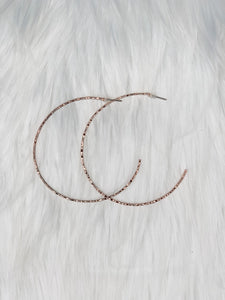 Rose Gold Hoops - Vintage Cotton Boutique