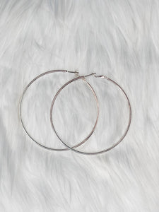Silver Basic Hoops - Vintage Cotton Boutique