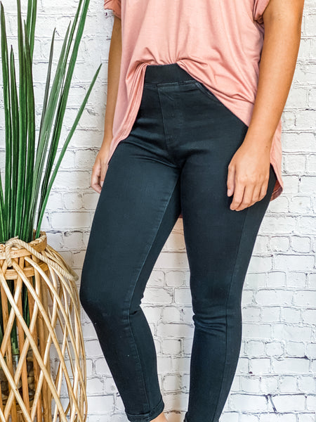 Skinny Elastic Band Black - Vintage Cotton Boutique