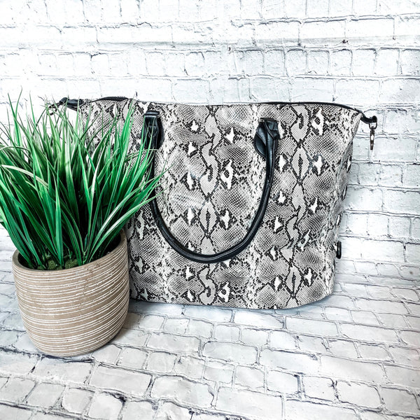 Snakeskin Weekender Tote - Vintage Cotton Boutique