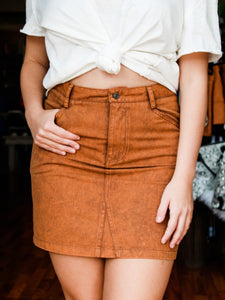 Courtney Caramel Skirt