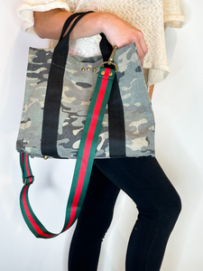 Madison Canvas Crossbody Tote Camo