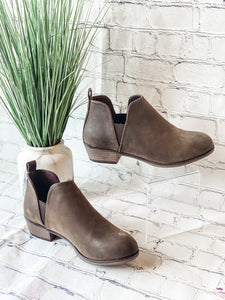 Zoey Brown Bootie - Vintage Cotton Boutique