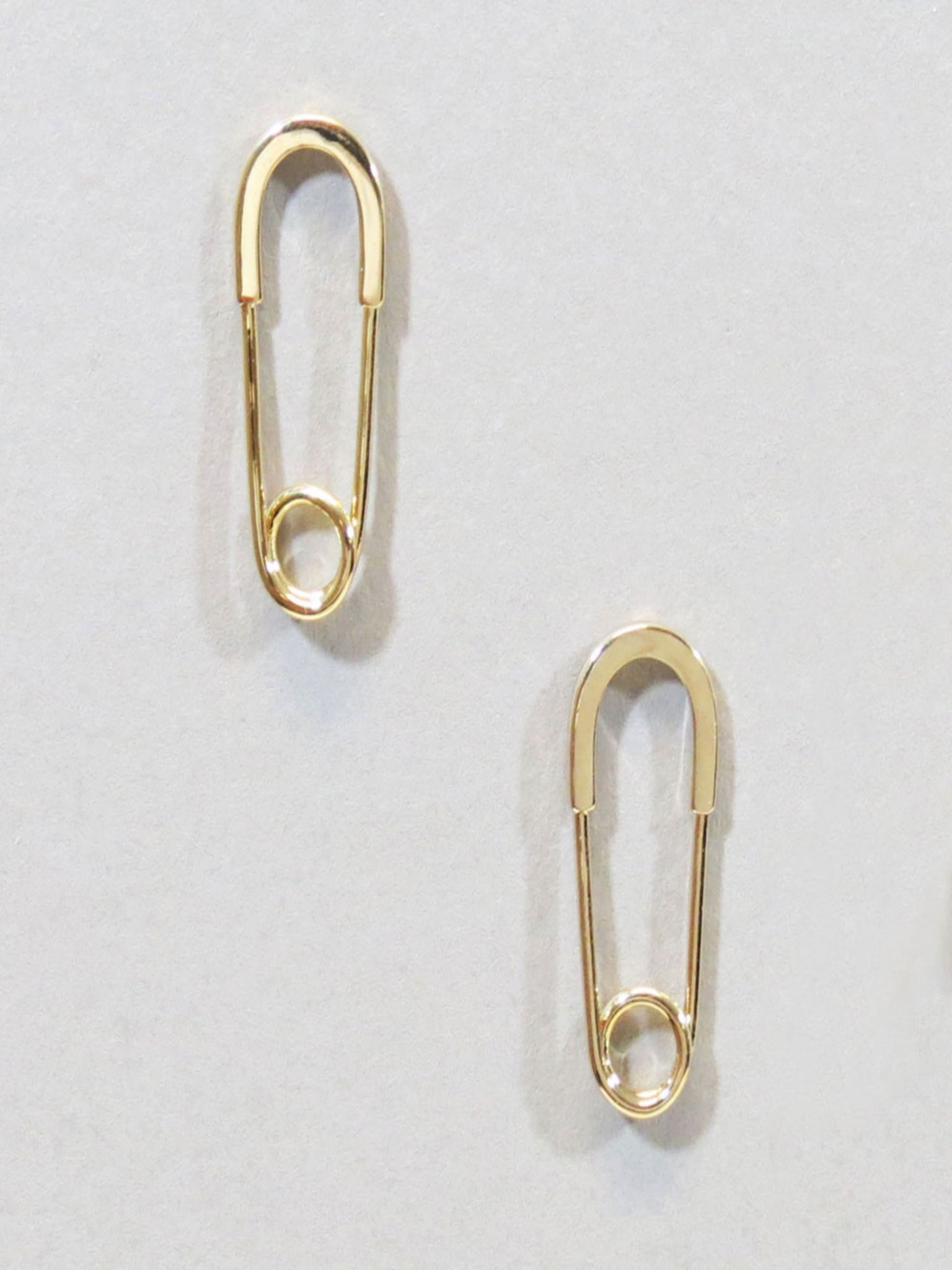 Safety Pin Earrings/Gold - Vintage Cotton Boutique