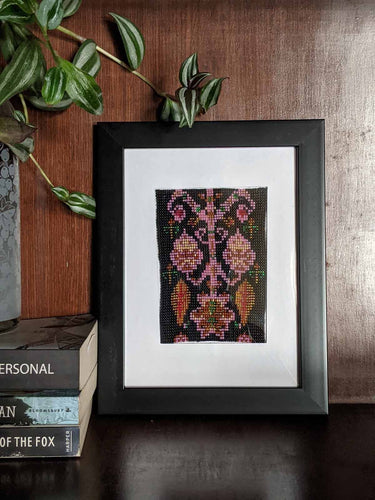 Beaded Tapestry Panels - An IKAT inspired panel