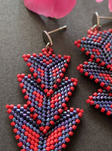 Load image into Gallery viewer, Multicolored handmade beaded Earrings
