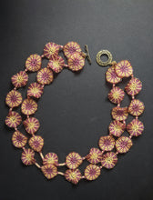 Load image into Gallery viewer, Pink & Off-white Handcrafted Multi-Stranded Flower Necklace