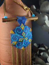 Load image into Gallery viewer, Handmade Beaded Necklace - Zara in Blue