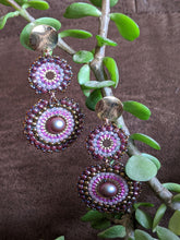 Load image into Gallery viewer, Handcrafted Pink & Purple Chakri Earrings