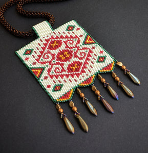 Multicoloured Handmade Beaded Necklace -  Samaira Necklace