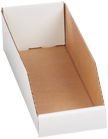 Aviditi BINBWZ318 Corrugated Open Top Bin Box Oyster White 18 Length x 3 Width x 4-1//2 Height Bundle of 25