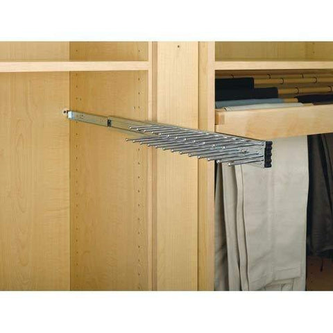 Rev-A-Shelf - TRC-14CR - 14 in. Chrome Pull-Out Side Mount Tie Rack