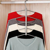 Discover suzeda 5 tier stainless steel blouse tree hanger closet organizer 6 pack