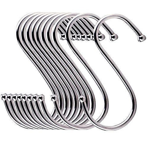 Related 24 pack esfun round s shaped hooks 4 inch hangers for kitchen bathroom bedroom closet rod and office