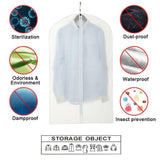 Great eanxo garment bag for storage 60 inch lightweight clear white peva breathable winter coats bags set of 6 with study full zipper for long dress clothes storage closet