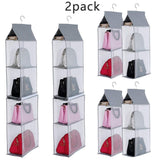 Results keepjoy detachable hanging handbag organizer purse bag collection storage holder wardrobe closet space saving organizers system pack of 2 grey