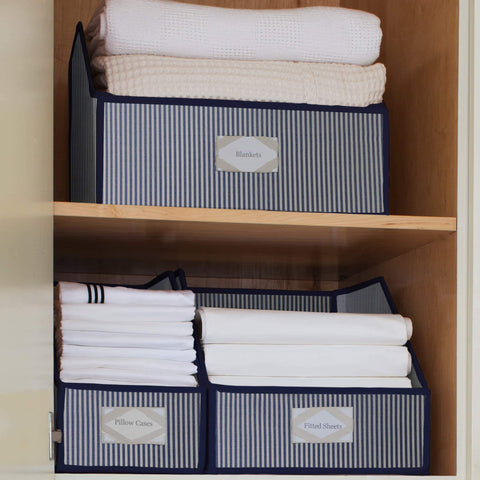 Select nice great useful stuff g u s striped linen closet storage organize sheets blankets towels wash cloths sweaters and other closet storage large
