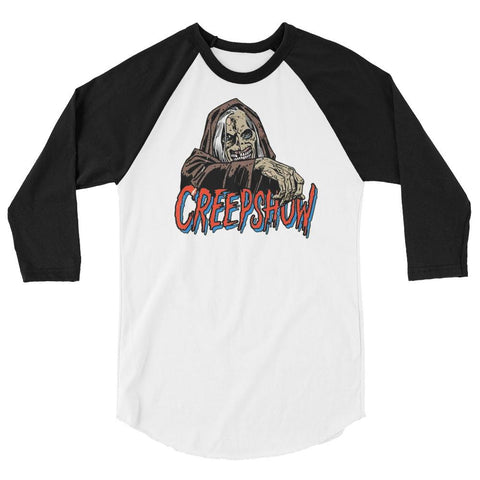 CBC Creep 3/4 sleeve raglan shirt White/Black | Official Creepshow Store