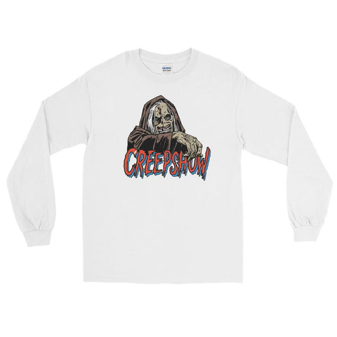 CBC Creep Long Sleeve T-Shirt White | Official Creepshow Store