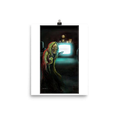 Creep on White Print 8×10 | Official Creepshow Store