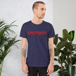 Logo Red Short-Sleeve Unisex T-Shirt Heather Midnight Navy | Official Creepshow Store