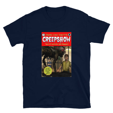 Zombie Girl Cover Short-Sleeve Unisex T-Shirt Navy | Official Creepshow Store