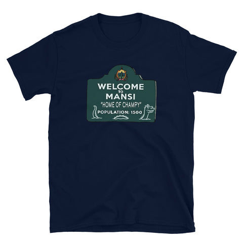 Home of Champy Short-Sleeve Unisex T-Shirt Navy | Official Creepshow Store