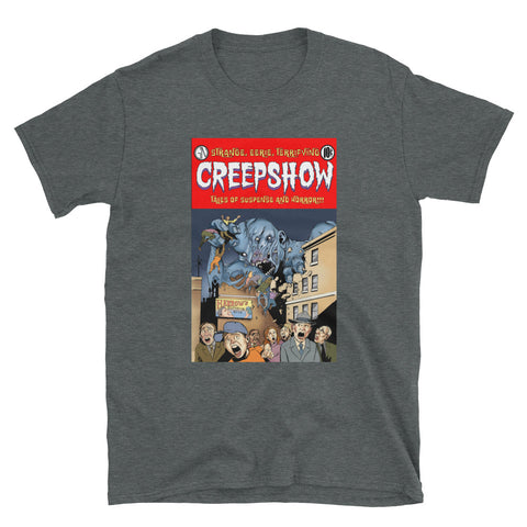 Gray Matter Cover Short-Sleeve Unisex T-Shirt Dark Heather | Official Creepshow Store