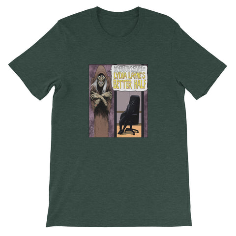 Lydia Layne's Better Half Heather Short-Sleeve Unisex T-Shirt Heather Forest | Official Creepshow Store