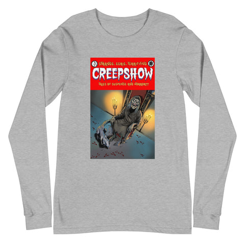 The Finger Cover Unisex Long Sleeve Tee Athletic Heather | Official Creepshow Store