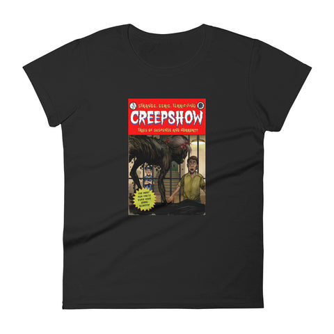 Zombie Girl Cover Women's Short Sleeve T-shirt Black | Official Creepshow Store