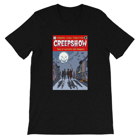 All Hallow's Eve Heather Short-Sleeve Unisex T-Shirt Black Heather | Official Creepshow Store