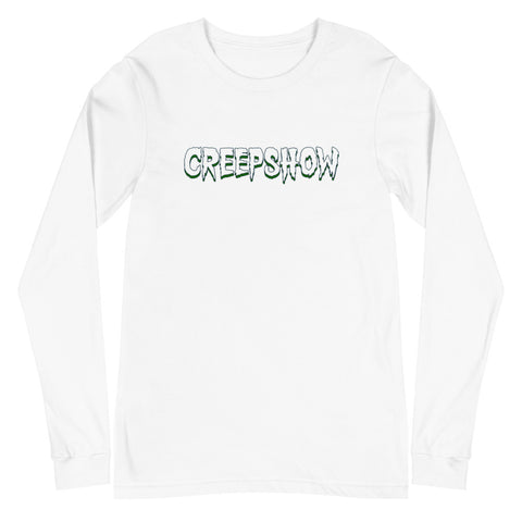 Home of Champy Back Hit Unisex Long Sleeve Tee White | Official Creepshow Store